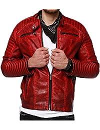 Red Bridge Arif Blouson en cuir pour homme