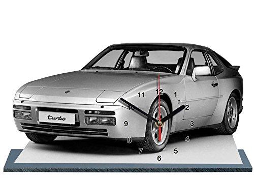 Preisvergleich Produktbild AUTO, PORSCHE 944, MINIATUR MODELL MOTORRAD in der Uhr 02