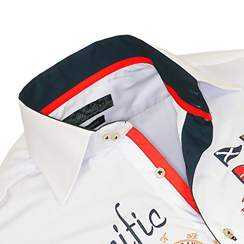 Binder de Luxe Herren Kurzarm Hemd 820 modern fit Weiß