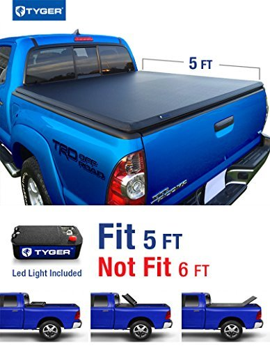 Tyger Auto TG-BC3T1030 Tri-Fold Pickup Tonneau Cover (Fits 05-14 Toyota Tacoma Double Cab (with/without utility track)) by Tyger Auto