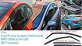 4x Deflettori D'Aria Compatibile con Ford Fiesta 2017-present MK7 a 5 porte Antiturbo Per Auto Vetro Acrilico Anti Vento Guardia di Pioggia Sole Neve Qualità premium PMMA