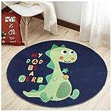 SMC Teppiche Kreative grüne Dinosaurier Teppich Sofa Kissen Kinderzimmer Schlafzimmer Wohnzimmer Studie Hause Teppich (Größe : 120cm)