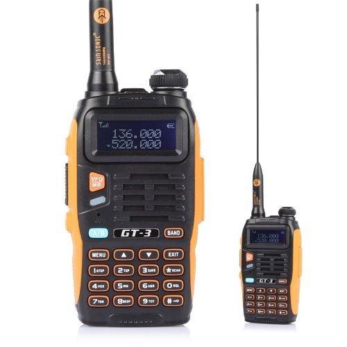 Baofeng Mark II GT-3 UHF/VHF 2m/70cm Dual Band Funkgerät Walkie Talkie + Mikrofon