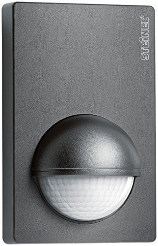 Steinel 034580 Détecteur de mouvement IS 180–2, 180 degrés capteur de mouvement passif infrarouge et maximum 12 m reichweiteinklusivive Support mural d'angle, plastique, 1000 W, anthracite, 5.6 x 7,6 x 12 cm