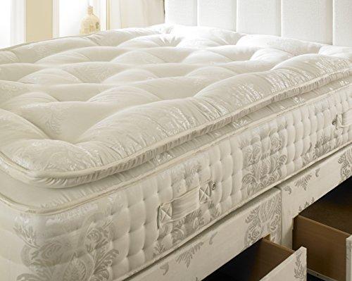 Pillow-top-king-size-matratze (2000Taschenfederkernmatratze, orthopädische Matratze, Textil, beige, Doppelbett)