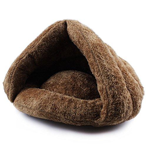Komia Kuschelhöhle für Katze Warmer Plüsch Katzenhöhle - 2
