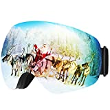 Ski Goggles Mpow Anti-fog Pro UV400 Protection 180� Super-wide Angle Snowboarding Goggles Spherical Dual-layer Lens,Two Way Ventilation System for Skiing Snowmobile and Cycling(FDA and CE Approved)