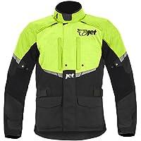 Mens Black/Fluro Textile Motorcycle Motorbike Jacket Waterproof CE Armoured … (XXL)