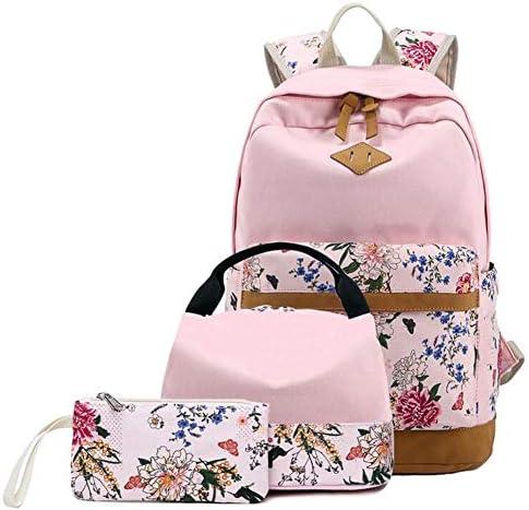 HE-bag Borsa da scuola Set da 3 pezzi, leggera borsa borsa borsa da scuola per PC portatile zainetto canvas leggero casual per adolescenti (Coloreee   4) | Speciale Offerta  | diversità imballaggio  f4125c