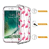 Image of Iphone 8 Case Iphone 7 Cover Mosnovo Cute Flamingo Tropical Clear Design Printed Transparent Plastic Hard Back Case With Tpu Bumper Protective Phone Case Cover For Iphone 7 2016 Iphone 8 2017