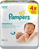 Pampers Perfume-Free Sensitive Wipes - (Pack of 4) (224 Wipes)
