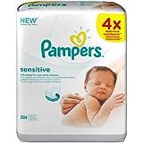 Pampers - Sensitive - Lingettes Bébé - 1 Paquets de 224 Lingettes