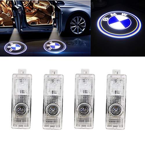 LED 4 Pezzi Car Door Illuminazione a LED Logo Proiettore Porta Luce, Porta Auto LED Logo HD Proiettore Installazione Facile Luci Ombre per BMW (4-Pack)