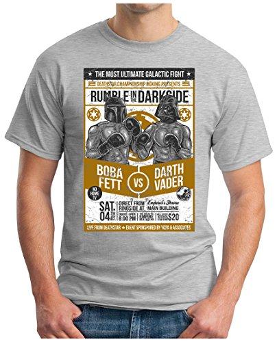 OM3 - RUMBLE-IN-THE-DARKSIDE - T-Shirt, S - 5XL Grau Meliert