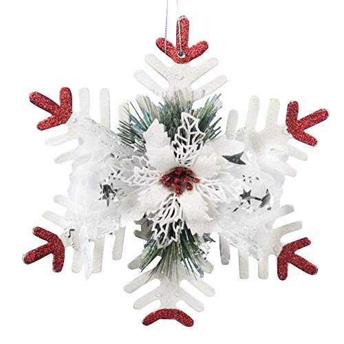 Fir Artificial Christmas Garland (Pendant & Drop Ornaments - Artificial Snowflake Christmas Tree Hanging Pendant Ornament Decoration Home Party - Christmas Christmas Drop Ornament Tree Decor Christmas Metal Tinsel Ornaments An)