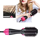Symeas Hair Dryer and Volumiser, One Step Hair Dryer & Styler and Multi-functional 3-in-1 Salon Negative Ion Hair Straightener & Curly Hair Comb with Anti-Scald Feature European standard plug