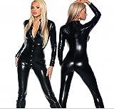 HYW Europa und die Vereinigten Staaten HEI?e Lustige Leder Mantel Brust Shorts Hosen Sexy Schwarzen Motorrad Anzug Europa und Den Vereinigten Staaten -