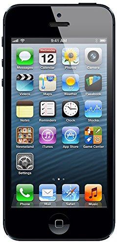 apple iPhone 5 Smartphone UNLOCKED (4 Zoll) (16 GB, iOS 7) Schwarz (für apple zertifiziert) (Iphone 5 16gb Schwarz Unlocked)