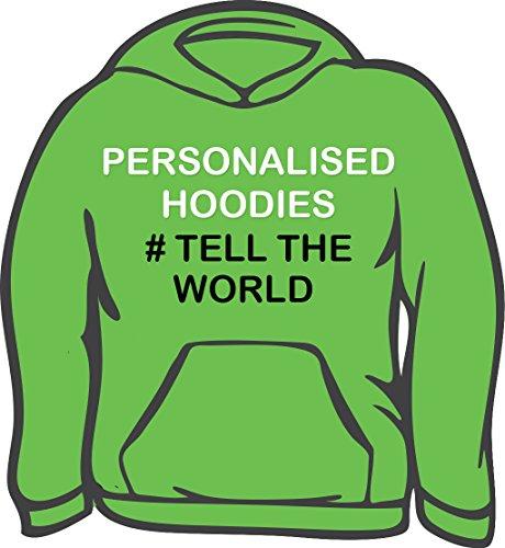 Di alta qualità, personalizzata con cappuccio per adulti Verde Alien