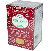 St. Dalfour Organic Tea Strawberry - 25 Tea Bags (Pack of 6) - Pack Of 6