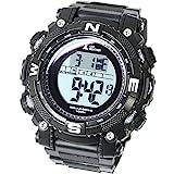 [LAD WEATHER] Digital watch Powerful solar battery 100 meters water resistant Military Outdoor