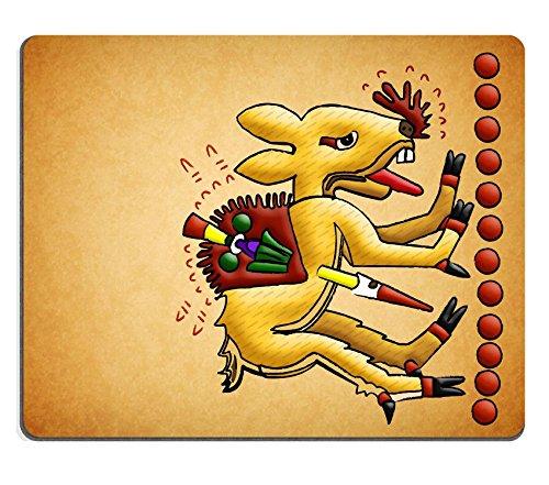 MSD caucho Natural alfombrilla para ratón imagen ID: 13491000antigua cultura tolteca Mayan ciervo