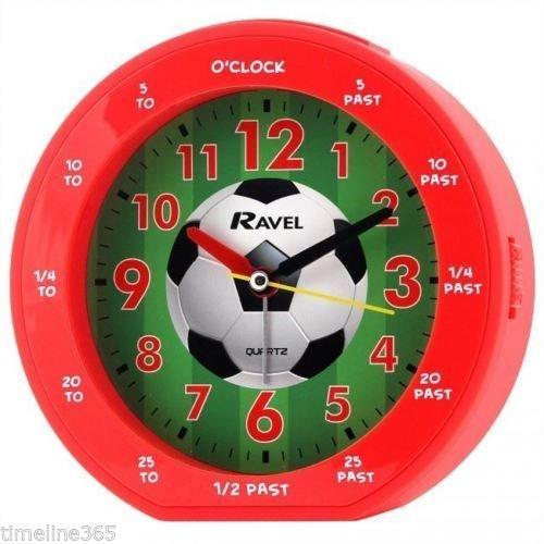 Kinder, die Rot Fußball Fußball Wecker