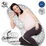 Schwangerschaftskissen lang Seitenschläfer Kissen XXL - Baby Stillkissen Schwangerschaft Schlafrolle Seitenschläferkissen Set 2 Pillow + Unterlage