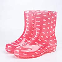 Giow Adult Rain Boots, Female Work Rubber Shoes Non-Slip Waterproof Shoes Soft And Breathable Four Seasons
