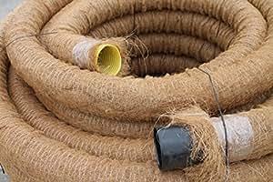 drainagerohr dn 100 gelocht mit kokosfilter kokos ummantelt meterware baumarkt. Black Bedroom Furniture Sets. Home Design Ideas
