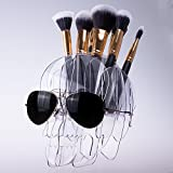 lehcar xxl-cosmetic pantalla Shelf Cepillos Soporte acrílico 8orificios para pinceles de maquillaje Set Esqueleto Forma