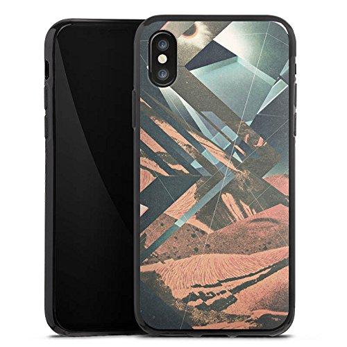 Apple iPhone X Silikon Hülle Case Schutzhülle Mars Hipster Muster Silikon Case schwarz