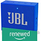 (Renewed) JBL Go + Portable Wireless Bluetooth Speaker with Mic (Blue)