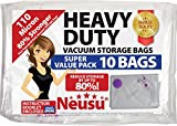 Neusu Value Pack 10 Medium Vacuum Storage Bags - Heavy Duty 110 Micron Quality Compression - 10 Pack 70cm x 50cm Space Saving Bags