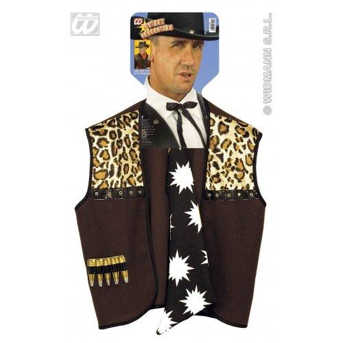 Für Herren Cowboy Erwachsene Kostüm - Widmann wdm4300C-Kostüm für Erwachsene Weste Cowboy mit Bandana, braun, M
