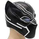 Schwarz Maske Kostüm Deluxe Halloween Erwachsene Weiches Harz Kopf Voller Helm Cosplay mit Licht -