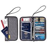 YissvicAusweistasche Reisebrieftasche Travel Wallet Reisepasstasche mit Lanyard für Pass Kreditkarten Tickets