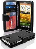 Cadorabo - Book Style Hülle für HTC ONE X / X PLUS - Case Cover Schutzhülle Etui mit 3 Kartenfächern in OXID-SCHWARZ