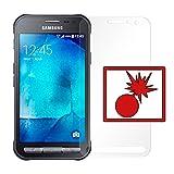 2 x Slabo Panzerschutzfolie passend für Samsung Galaxy Xcover 3 Panzerfolie Displayschutzfolie Schutzfolie Folie