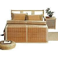 Doppelseitige Gebrauchsbett-Matte - Sommer Schlafmatten Bambus Coole Schlafmatte Home Bambusmatte Vorderseite Rückseite Verfügbar - natürlicher Bambus und Rattan Klappbett-Matte preisvergleich bei kinderzimmerdekopreise.eu