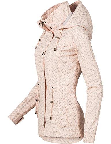 Fresh Made Damen Übergangsjacke Baumwolljacke 43304A Rose Gr. XS - 3