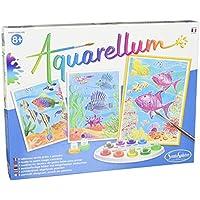 Sentosphere 3906060 - Set per dipingere con acquerelli con 3 disegni da colorare, tema: barriera corallina