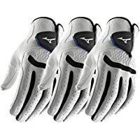 Mizuno Pack of 3 Golf All Weather Comp Mens Golf Gloves Left Hand (Right Handed Golfer)