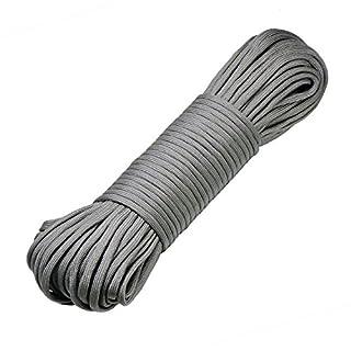 DonDon 30 Meter langes Stoffband Nylon-Schnur Paracord-Seil Survival Band zum Basteln und für Outdoor Camping Aktivitäten 4 mm - 7 Stränge grau
