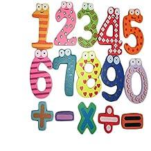 Ularma Lindo Matemáticas números de madera magnético Set juguete educativo Digital del bebé