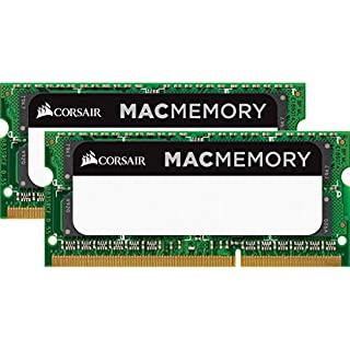 Corsair CMSA16GX3M2A1333C9 Apple Mac 16GB (2x8GB) DDR3 1333Mhz CL9 Mémoire pour ordinateur portable SODIMM pour produits Apple. (B006ON5KZC)   Amazon price tracker / tracking, Amazon price history charts, Amazon price watches, Amazon price drop alerts