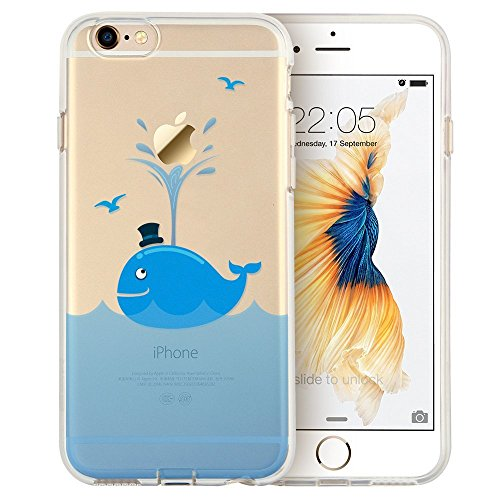 Blitz® Mania Series Transparent Weiche Silikon Schutzhülle TPU Bumper Case iPhone Ballon Mädchen iPhone 7PLUS Frecher Waal
