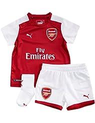 Arsenal 17/18 Home Infant Football Kit - Red/White