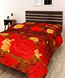 #10: IWS 3D Printed 160 TC Polycotton Single Bedsheet - Floral, Multicolour