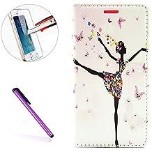 LG G5Funda Cartera, LG G5Slim diseño geométrico Fashion de diseño moderno, '[mariposa hada] [flor] con incrustaciones brillante Glitter Diamond PU Funda de piel protectora con soporte para LG G5, + 1protector de pantalla + 1piezas lápiz capacitivo lápiz táctil., color G-Dance Girl
